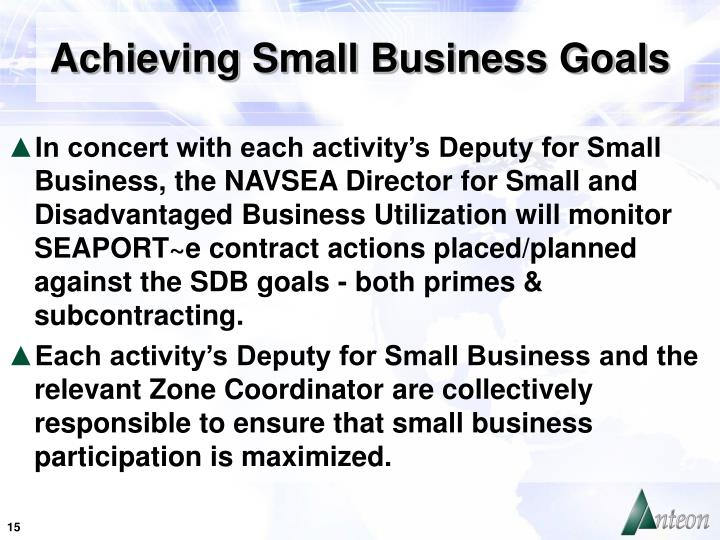 Achieving Small Business Goals