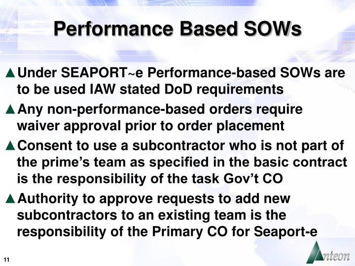 Performance Based SOWs