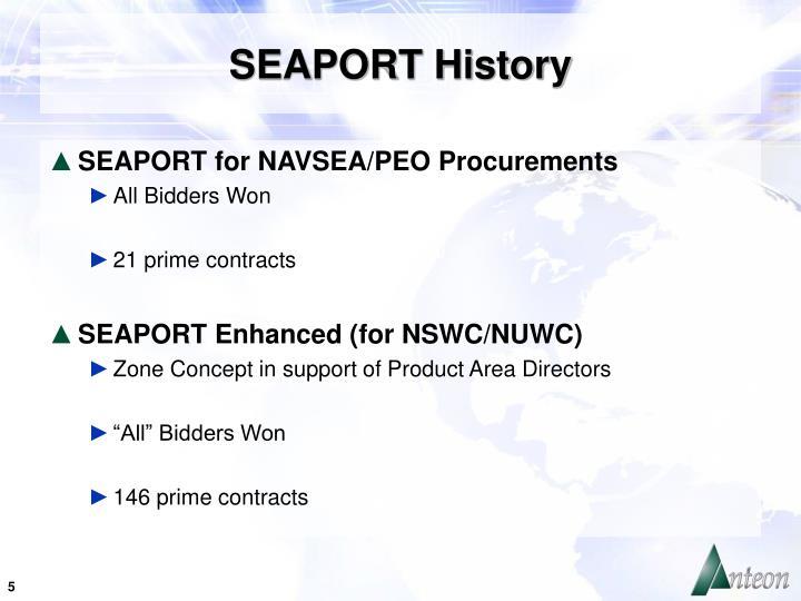 SEAPORT History