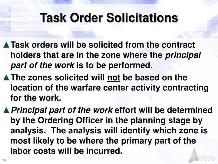 Task Order Solicitations