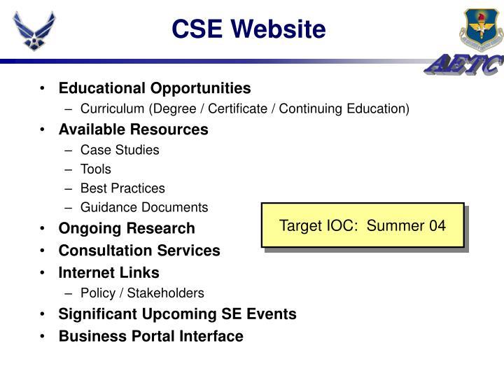 CSE Website