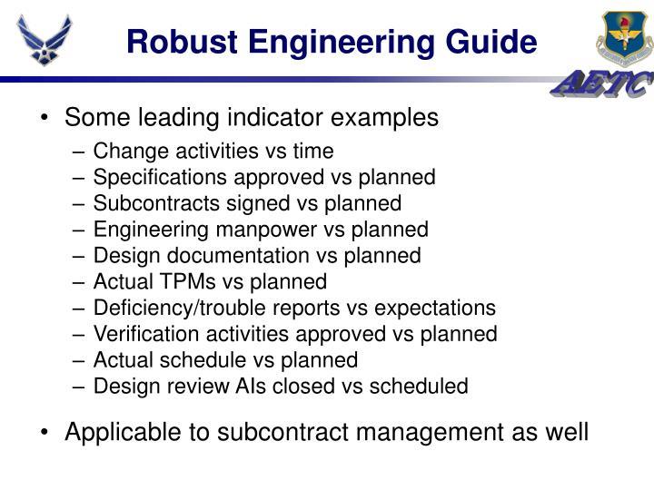 Robust Engineering Guide