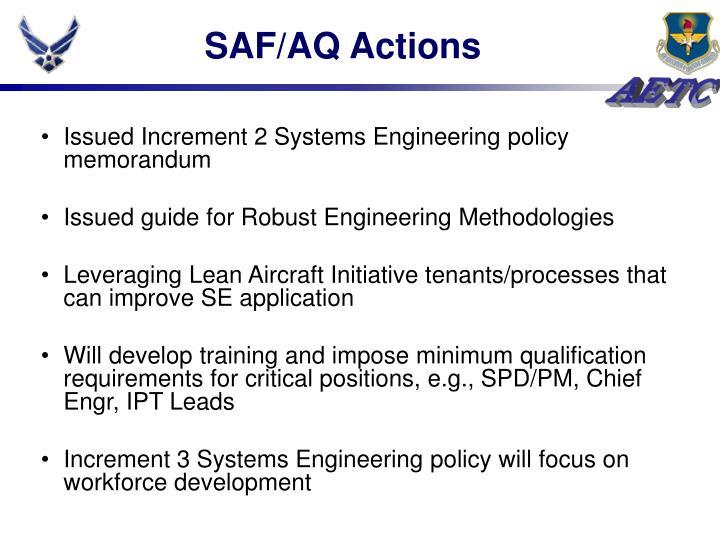 SAF/AQ Actions