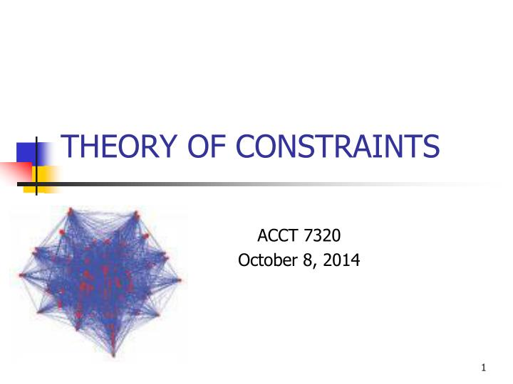 theory of constraints n.