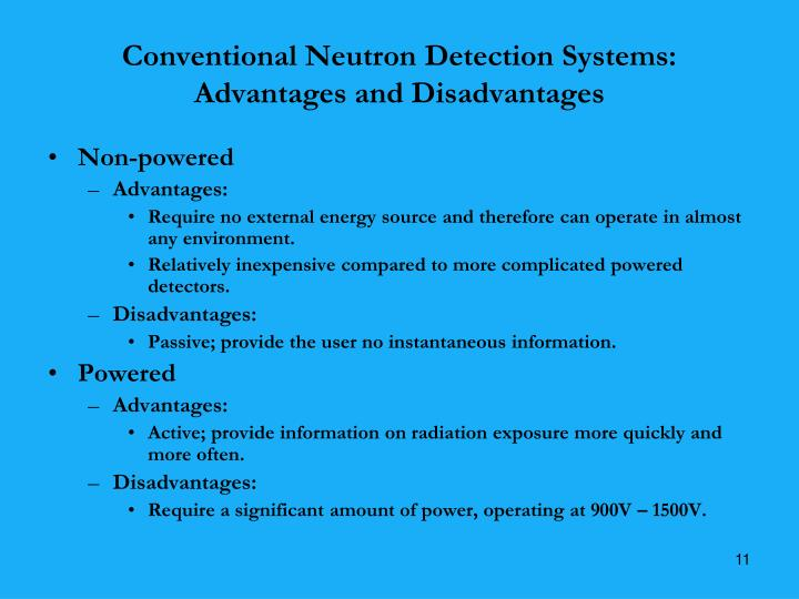 Conventional Neutron Detection Systems: