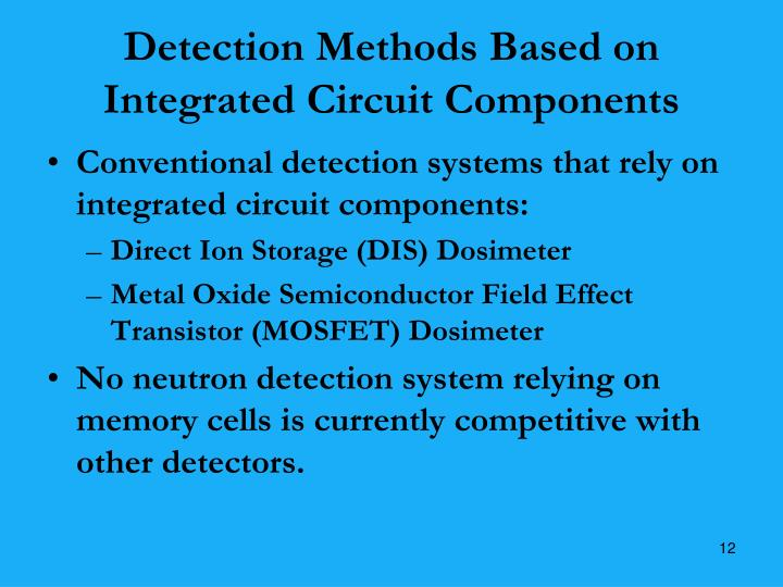 Detection Methods Based on Integrated Circuit Components
