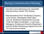 boeing communication meeting