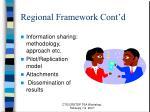 regional framework cont d