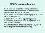 tpa performance scoring