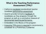 what is the teaching performance assessment tpa