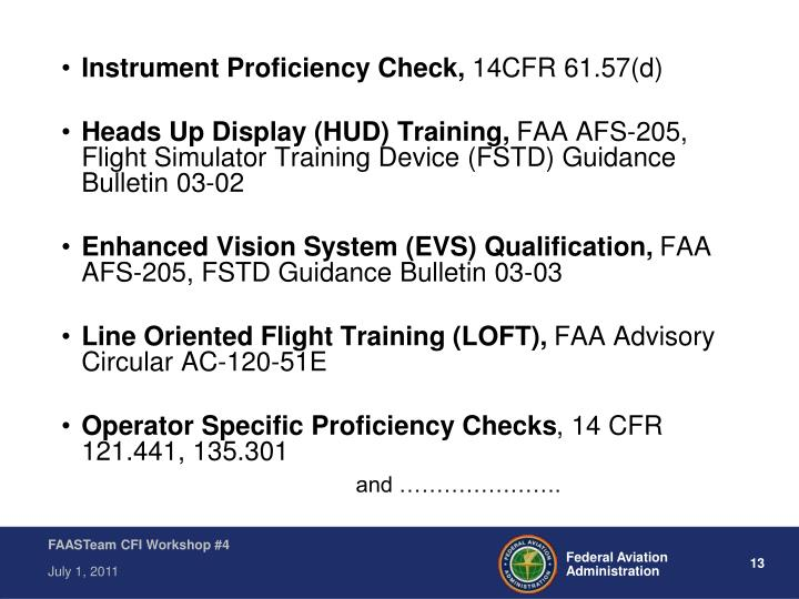 Instrument Proficiency Check,