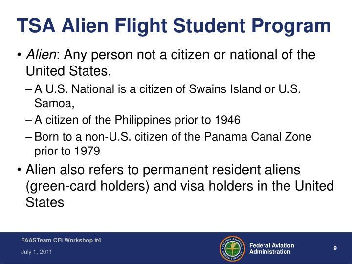 TSA Alien Flight Student Program