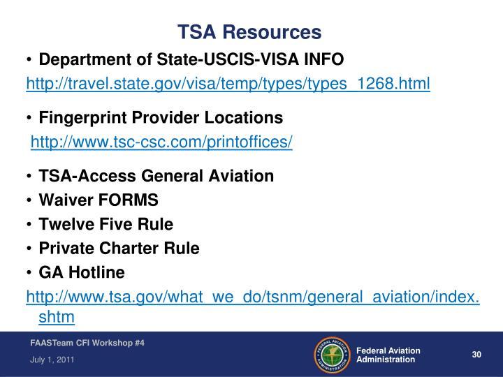 TSA Resources