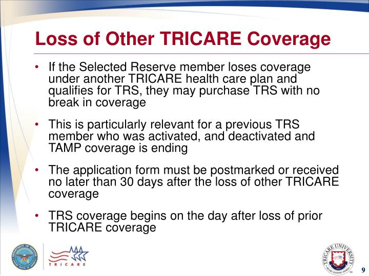 Loss of Other TRICARE Coverage