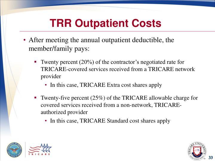 TRR Outpatient Costs