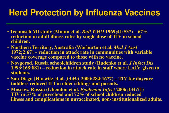 Herd Protection by Influenza Vaccines