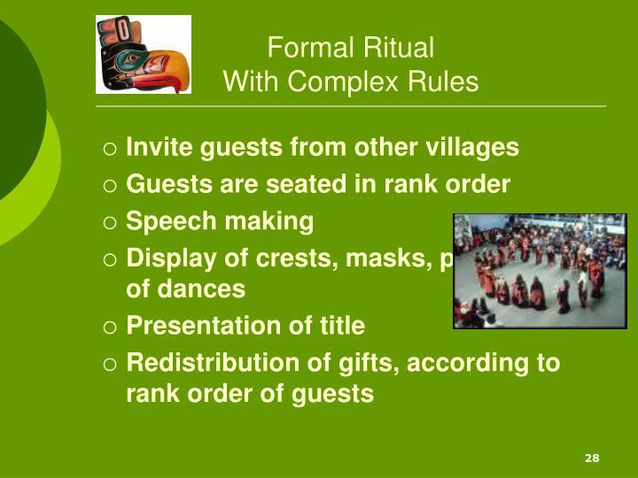 Formal Ritual