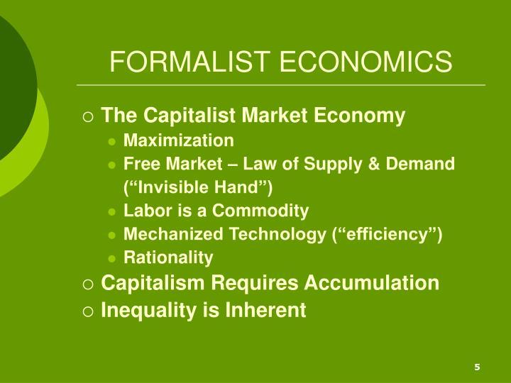 FORMALIST ECONOMICS