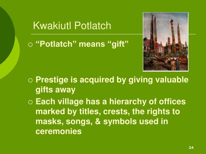 Kwakiutl Potlatch