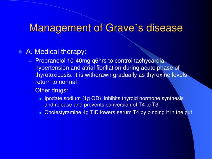 Management of Grave