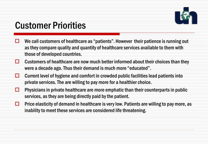 Customer Priorities