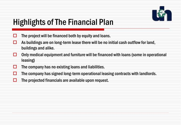 Highlights of The Financial Plan