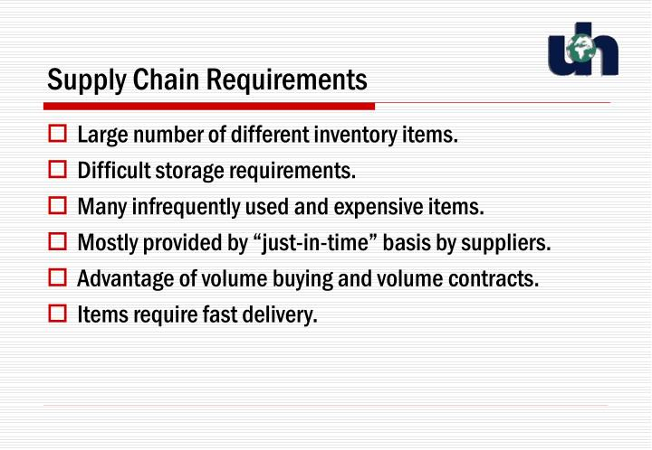 Supply Chain Requirements