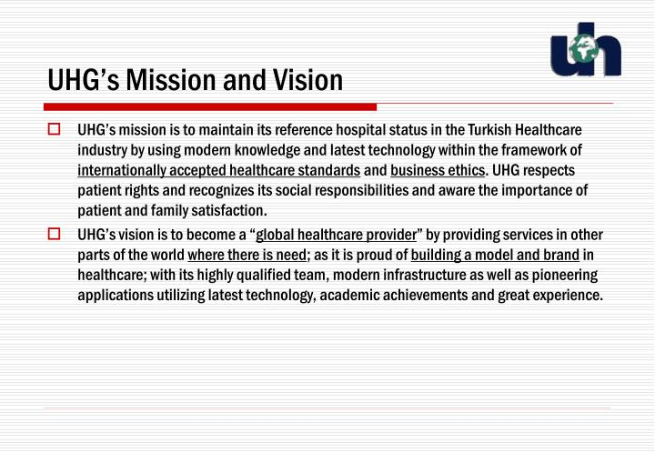 Uhg s mission and vision