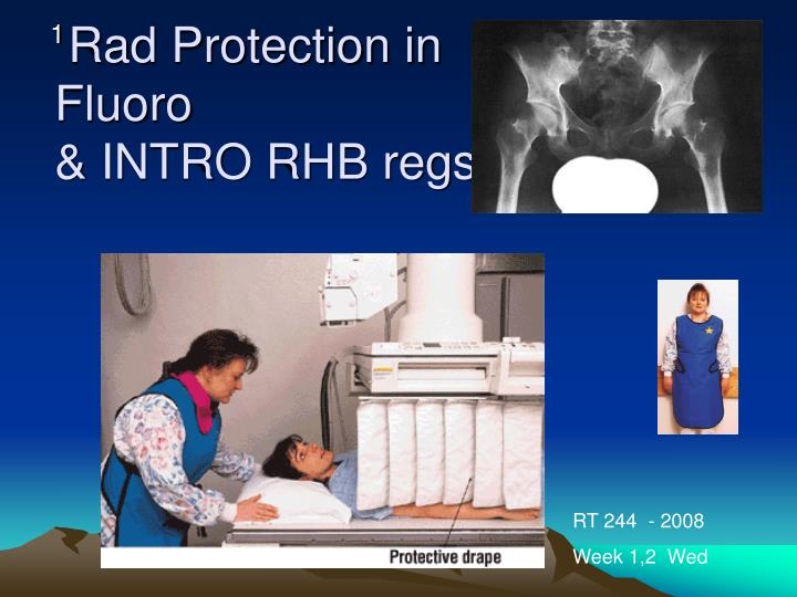 rad protection in fluoro intro rhb regs n.