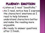 fluency emotion