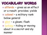 vocabulary words2