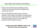 new tdap interval recommendation