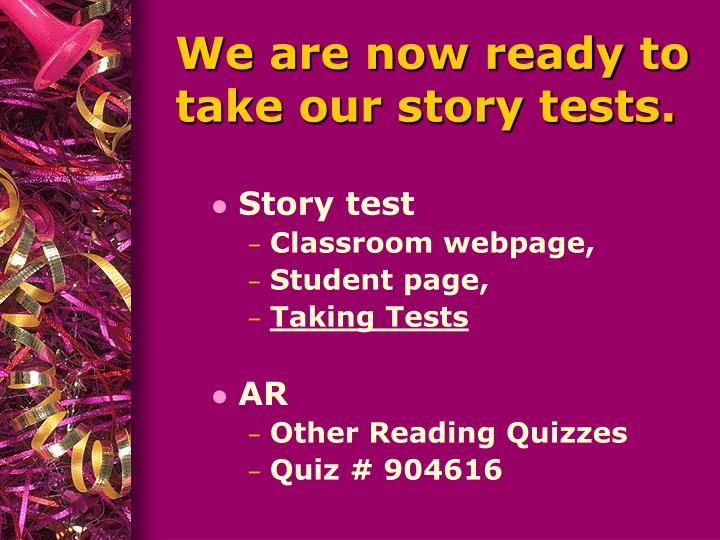Story test