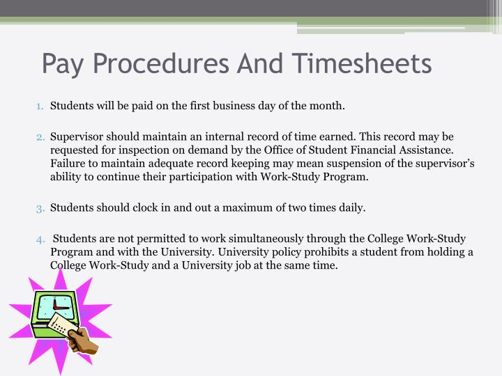 Pay Procedures And Timesheets