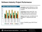 software industry project performance
