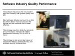 software industry quality performance