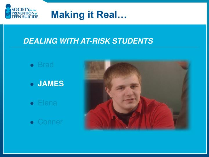 DEALING WITH AT-RISK STUDENTS