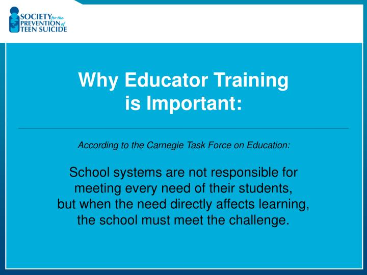 Why Educator Training