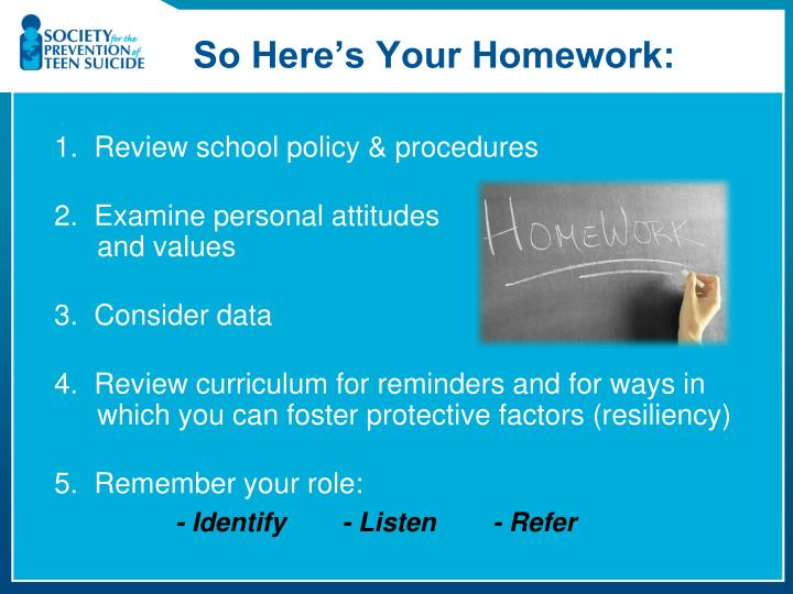 So Here's Your Homework: