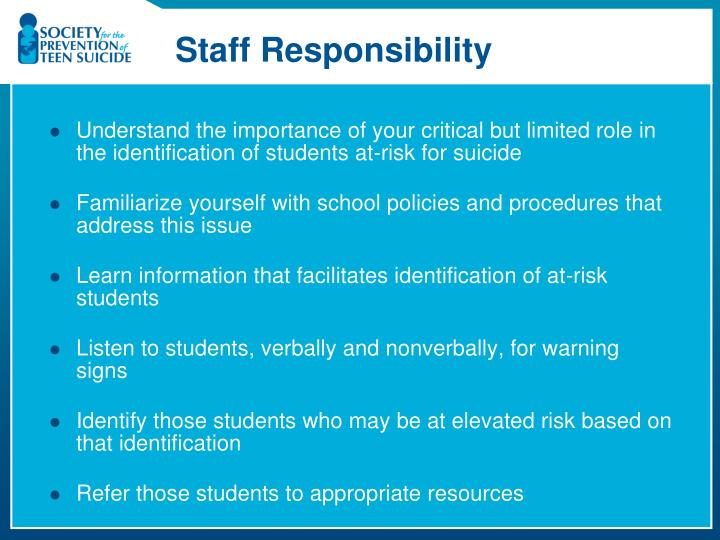 Staff Responsibility