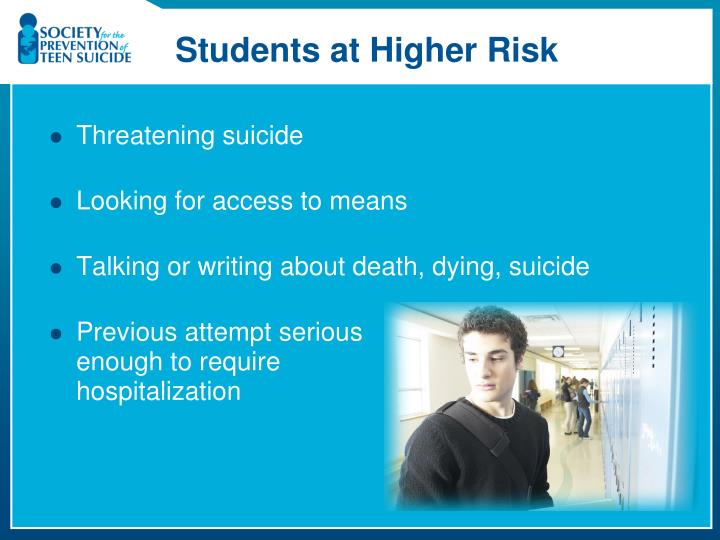 Students at Higher Risk