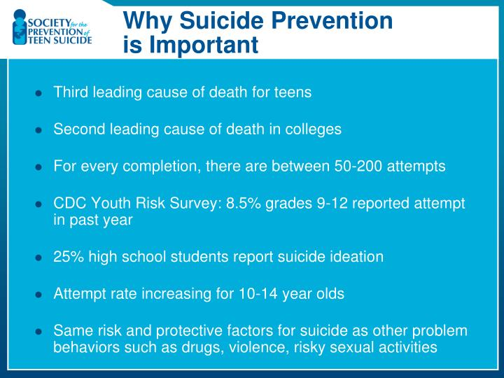 Why Suicide Prevention