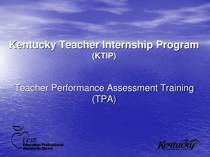 kentucky teacher internship program ktip n.