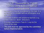 task d discoveries for task d collaborate to address special learning needs