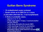 guillan barre syndrome