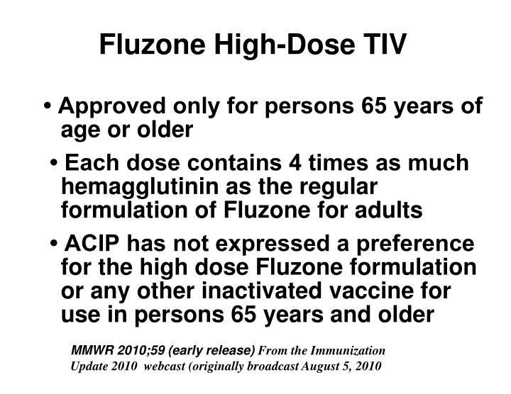 Fluzone High-Dose TIV
