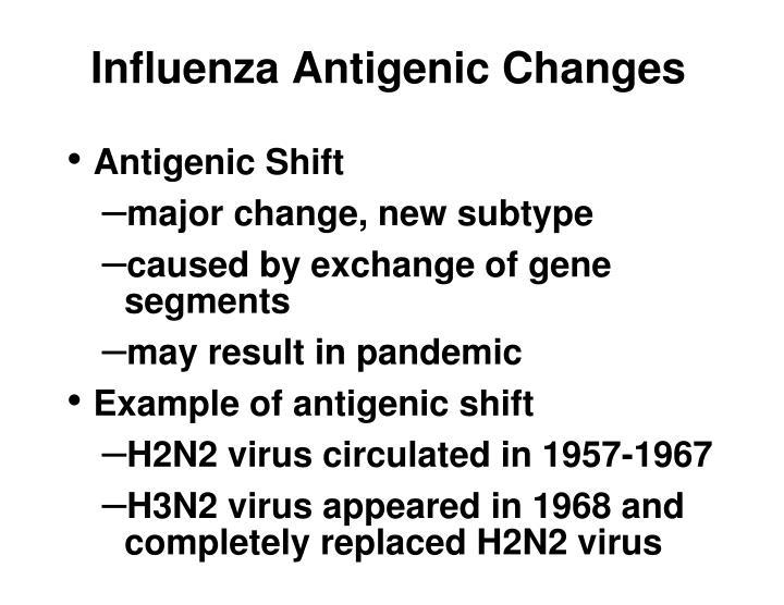 Influenza antigenic changes