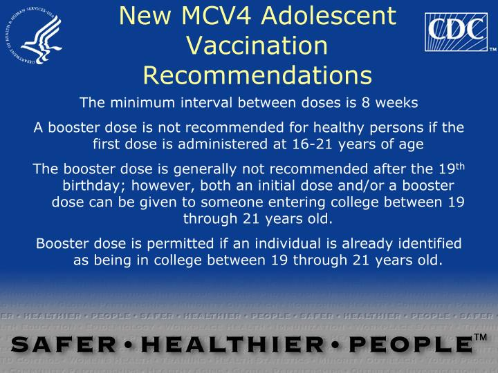 New MCV4 Adolescent Vaccination Recommendations