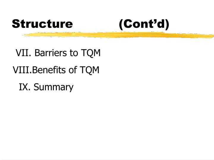 Structure cont d
