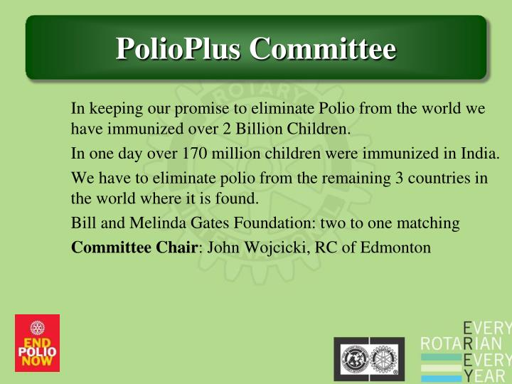 In keeping our promise to eliminate Polio from the world we have immunized over 2 Billion Children.